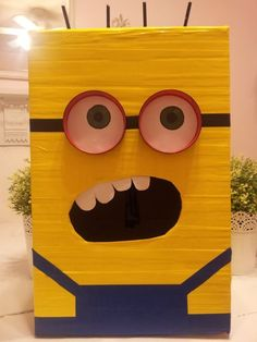Despicable Me Minion Valentines Day Box- great idea for the kids in school