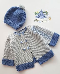 Baby cardigan - made- hole - fashion- fashion and lifestyle portal Baby Cardigan Knitting Pattern Free, Baby Boy Knitting Patterns, Knitted Baby Cardigan, Knit Baby Sweaters, Baby Clothes Patterns, Baby Hats Knitting, Baby Patterns, Knit Patterns, Baby Boy Sweater