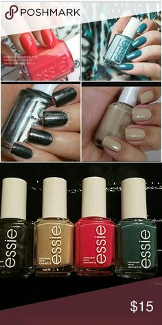 Essie nail polish All New Colors Are- Cocktails and Coconut, Berried Treasures, Tribal Text-styles and poolside Service ..Full size Essie  Other