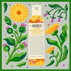 Christopher Monro: New illustration for Kiehl's.