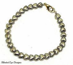 Heart Charm bracelet by BlindedEyeDesigns on Etsy