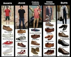 A quick guide on how to appropriately pair #shoes with #pants. #MensFashion