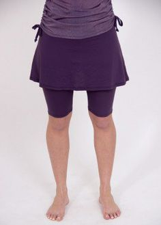 Purple Adele Swim skirt with attached leggings
