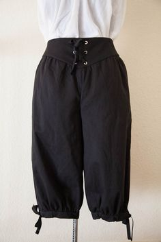 """Men's Renaissance Venetian Pants - Pirate Pants"" - Too much pirate? I don't know about the drawstrings - the maker does offer buttons, though."