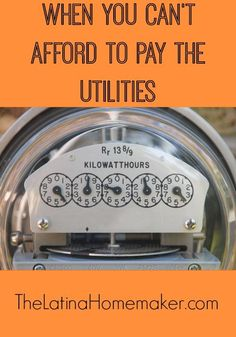 Simple tips to help guide you when you find yourself in a rough financial spot and can't afford to pay the utilities.