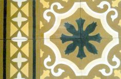 Floral Spanish design, Hydraulic Authentic Andalusian Tiles for both the floor and wall. MOD-193