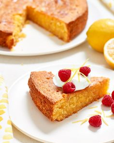 Recipe: Sticky Gluten-Free Lemon Cake — Recipes from The Kitchn Gluten Free Lemon Cake, Gluten Free Cakes, Gluten Free Baking, Gluten Free Desserts, Cereal Recipes, Cake Recipes, Dessert Recipes, Diet Recipes, Flour Recipes