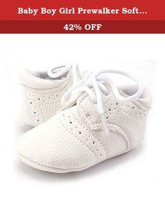 2b3f5d285f2 Baby Boy Girl Prewalker Soft Sole Infant Shoes (L  12-18 months