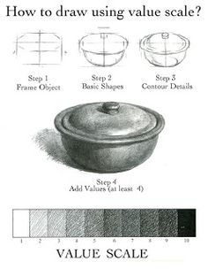 Carol Sun Sketchbook: Resources draw using value scale Drawing Lessons, Value Drawing, Basic Drawing, Drawing Skills, Drawing Techniques, Art Lessons, Documents D'art, Art Handouts, Value In Art