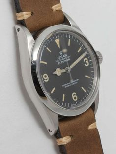 Rolex Stainless Steel Explorer Wristwatch with Hack Feature Ref 1016 circa 1966 image 2