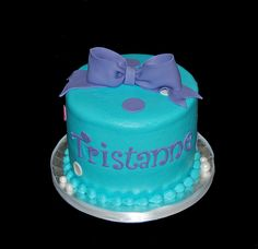 12th birthday cupcake tower aqua purple and pink by Simply Sweets, via Flickr