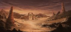 Desert/Canyon by ZhouJiaSheng.deviantart.com on @DeviantArt