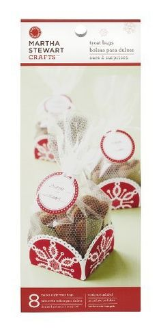 Martha Stewart Crafts Snow Lace Tray and Cellophane Bags by Martha Stewart Crafts. $6.99. From martha stewart crafts. Makes 8 treat boxes. Coordinates with other holiday craft products. Perfect for packaging homemade treats for gifts or bake sales. These pretty Snow Lace tray and cellophane bags can be used for giving homemade treats and holiday party favors. Fill the lace-designed bags with goodies (not included) and place in the snowflake trays. Includes cellop...