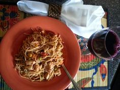 Grilled Chicken-Spaghetti Casserole/ grape juice - SONG THAT DOESN'T END