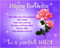 Happy Birthday to My Niece Quotes | ... ' Niece Birthday card pic has Pretty roses Happy Birthday Niece Poem
