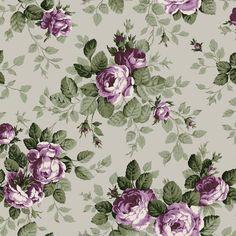 """Ganz ohne Dornen kommen die Rosen der Tapetenserie """"Bistro"""" daher. Dank des floralen Motivs passt die romantische Vliestapete besonders gut in den Wohn- und ..."""