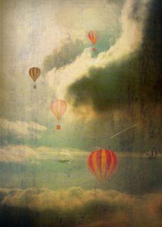 fantasy balloon cloud sky surreal