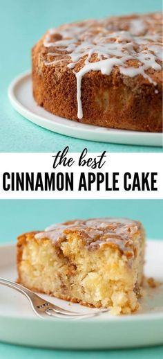 A deliciously easy Cinnamon Apple Cake made from scratch. This soft and tender A.A deliciously easy Cinnamon Apple Cake made from scratch. This soft and tender Apple Cake is packed with fresh apples and features a crunchy cinnamon topping and a dr Apple Cake Recipes, Best Cake Recipes, Sweet Recipes, Apple Cakes, Delicious Cake Recipes, Simple Apple Recipes, Best Apple Recipes, Easy Apple Cake, Fresh Apple Cake