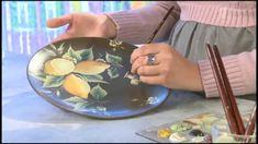 One Stroke Painting. Lemons.