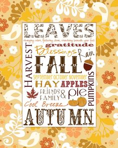 Smile Like You Mean it: Autumn Printable
