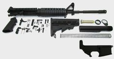 Complete AR15 Rifle Kit With A2 Sight Tower WITH 80% Stripped Lower Receiver 16″ M4 Feed Ramp Nitrid