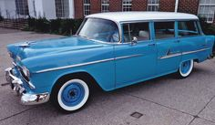 1955 Chevy, 1955 Chevrolet, Chevrolet Bel Air, Chevy Nomad, Car Station, Ticket To Ride, Panel Truck, True Art, Chevy Trucks