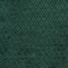 Dark Green Diamond Chenille Upholstery Fabric