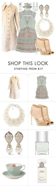 """""""Printed and Minted"""" by fashionforwarded ❤ liked on Polyvore featuring Courrèges, self-portrait, Carolee, Dolce&Gabbana, Valentino, Nails Inc., Royal Albert, Ralph Lauren and nailedit"""