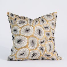 Studio A Agate Black And Gold Pillow Global Views Accent Pillows Throw Pillows Bedding