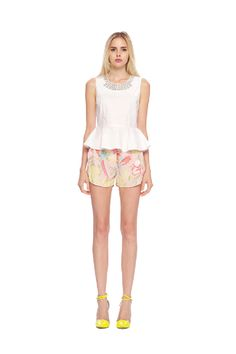 Line & Dot Pink Parrot Shorts