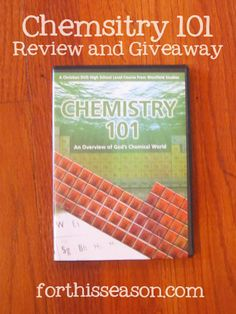 Chemistry 101 {Review and Giveaway} High School Curriculum, Homeschool Curriculum Reviews, Homeschooling, Learning To Relax, Educational News, Science Gifts, Science Chemistry, School Levels, Learning Activities
