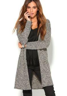 Dlhý sveter s metalickými vláknami #ModinoSK