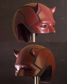 Daredevil cowl by Daredevil Suit, Marvel Fan, Thor Marvel, Cosplay Diy, Cosplay Ideas, Iron Man Armor, Evangeline Lilly, Spiderman Art, Anime Costumes