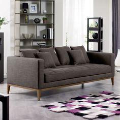 DWELL Limoges three seater sofa grey 208cm £899 / 2 Seater 162cm £799
