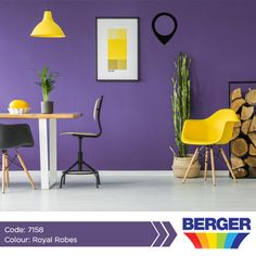 Purple is one of those colours that can express a variety of moods and styles. Whether you are looking to bring a romantic, regal, soothing, theatrical, spa-like or garden look and feel to a room, purple is the colour that can create any of them. #BergerCaribbean #ColourInspiration #PurpleInspiration #PurpleWall
