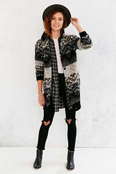 BDG Brushed Fair Isle Sweater - Urban Outfitters