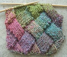 Image detail for -have a new knitting trick up my sleeve entrelac
