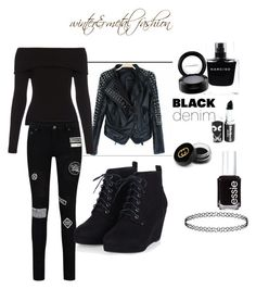 """""""Black Day"""" by agaogludilara on Polyvore featuring A.L.C., Essie, Narciso Rodriguez, MAC Cosmetics, Gucci, women's clothing, women's fashion, women, female and woman"""