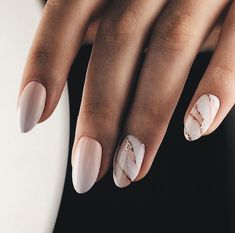 Almond nails.