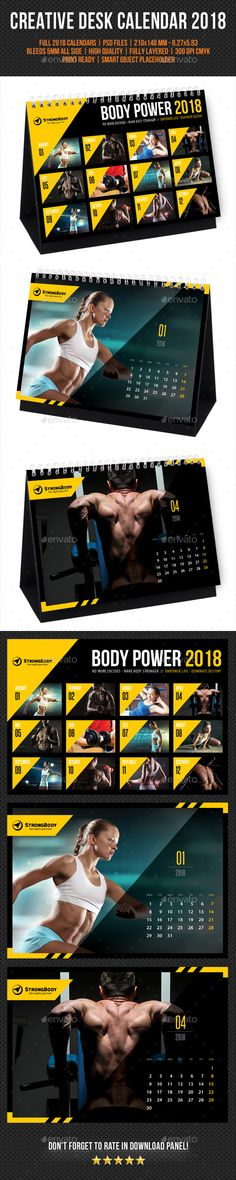 Creative Wall Calendar 2018 V03 - Calendars Stationery