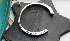 Cremation Urn Cuff Bracelet   Personalized Hand Stamped Cremation Jewelry   Cremation Urn   Memorial Jewelry   In Loving Memory   Pet