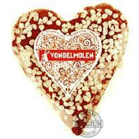 Coeur de pain d'épices au miel et sucre perlé 250g.