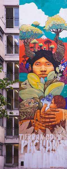 Tierra Madre Pachamama (Mother Earth)  by Alapinta Crew  @ Paris