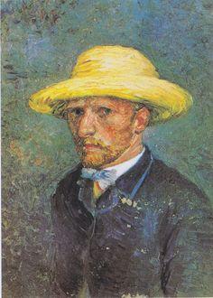 Vincent van Gogh, Portrait of Theo van Gogh (1887). Винсент Ван Гог. Париж, 1887 Портрет Тео Ван Гога.