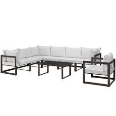 Modway Chance 8-piece Outdoor Patio Sectional Sofa Set