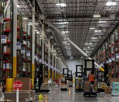 A rare glimpse of the inside of the Amazon Distribution Center in Reno