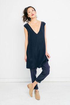 054bd114170 Elizabeth Suzann. Marlena Dress in Silk Crepe. modern feminine style