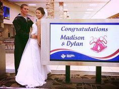 This soldier married his high school sweetheart in the airport, right when he got off the plane.