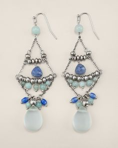 Aqua Chandelier Earring from Chico's on shop.CatalogSpree.com, your personal digital mall.