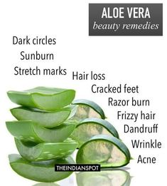 10 BEST REMEDIES USING ALOE VERAAloe vera gel is a popular remedy used in herbal medicine. Pure Aloe Vera Gel is known world wide for its healing and soothing qualities for the skin. Regular use will help heal, soothe, cool and condition the skin and also moisturizes and helps maintain the healthy glow.1. Sunburn Remedy: Grab an ice cube tray and fill it in with aloe gel and freeze. These aloe vera ice cubes are great after too much sun exposure, bug bites, poison ivy, and even psoriasis…